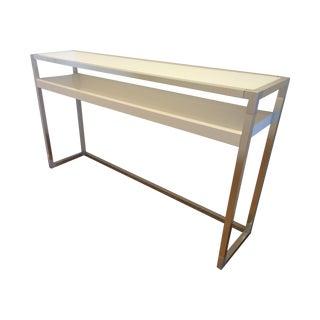 White Ligne Roset Contours Console Table For Sale