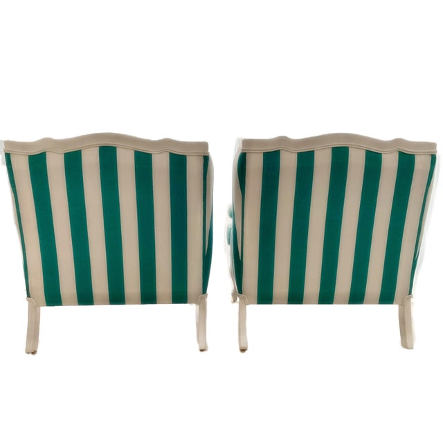 1950s Hollywood Regency Cabana Striped Chairs - a Pair For Sale - Image 5 of 13