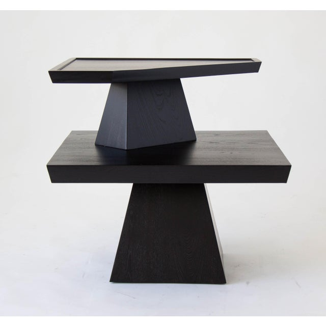 Brutalist Two-Tiered End Table - Image 2 of 11