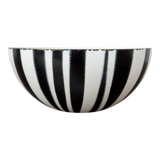 1960s Cathrineholm Striped Enamel Bowl For Sale