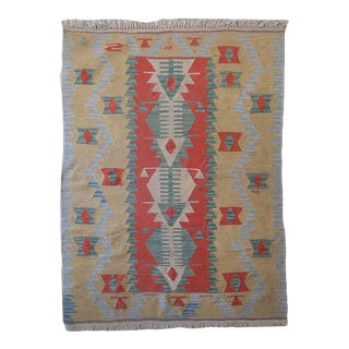 Vintage Flatweave Rug For Sale