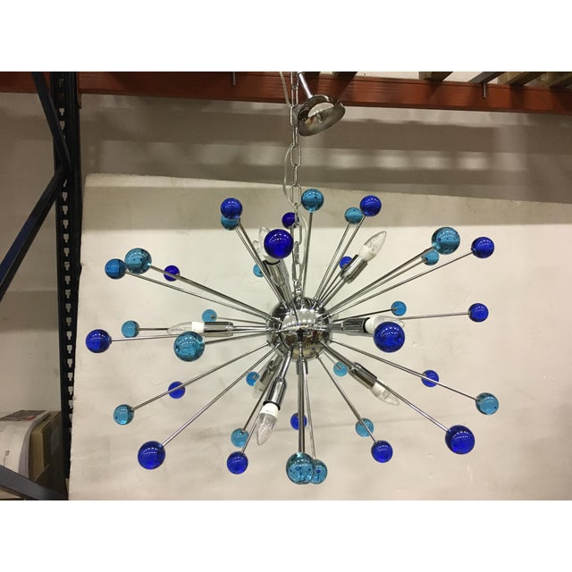 Early 21st Century Contemporary Murano Glass Triedo Sputnik Chandelier For Sale - Image 5 of 11