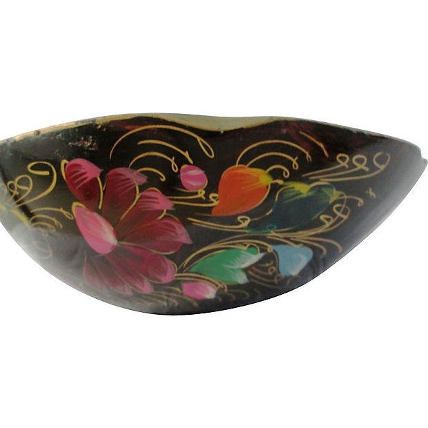 Large Mexican Batea Hand-Painted Wood Bowl For Sale In West Palm - Image 6 of 6