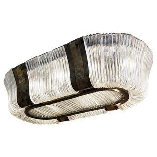 Large Murano Glass Chandelier by Carlo Scarpa for Venini