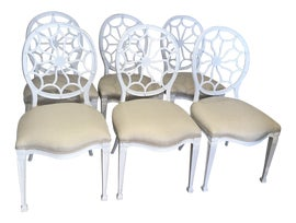 Image of Shabby Chic Dining Chairs