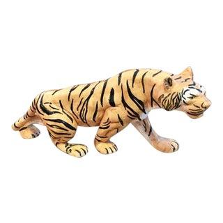 Hollywood Regency Porcelain Tiger