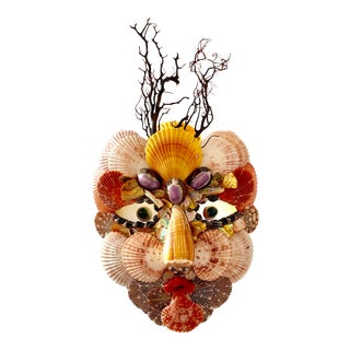Decorative Seashell Mask For Sale