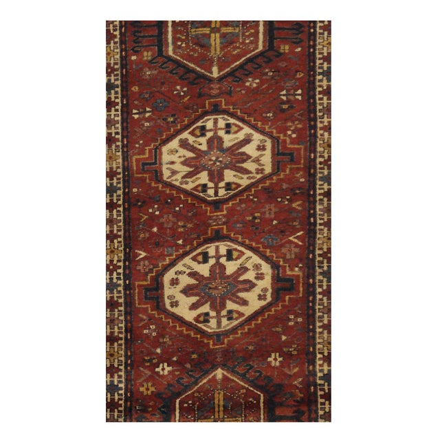 Islamic Vintage Persian Karaje Runner - 2.10 x 10.10 For Sale - Image 3 of 4