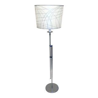 Adjustable Polished Nickel Floor Lamp For Sale