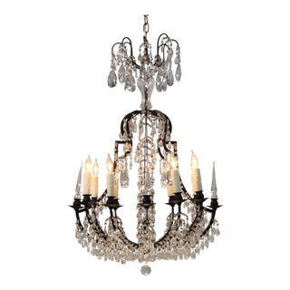 Italian Vintage Versailles-Style Crystal Chandelier For Sale