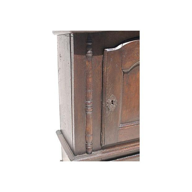 1690 Antique English Jacobean Wall Cupboard - Image 3 of 4