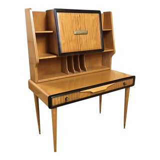 1950s Danish Modern Teak Writing Desk For Sale