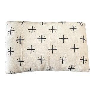 Mud Cloth Bogolan Black & White Lumbar Pillow African Mali For Sale