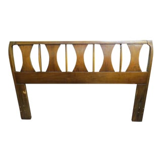 Vintage Mid Century Modern Kent Coffey Perspecta Queen Headboard For Sale