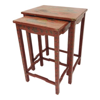 Antique Chinoiserie Nesting Tables For Sale