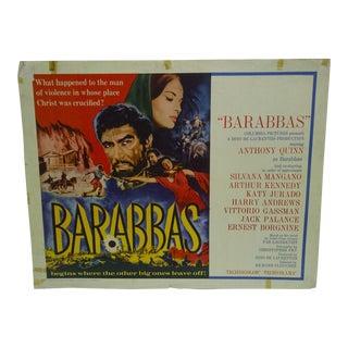 "1962 Vintage ""Barabbas"" Movie Poster"