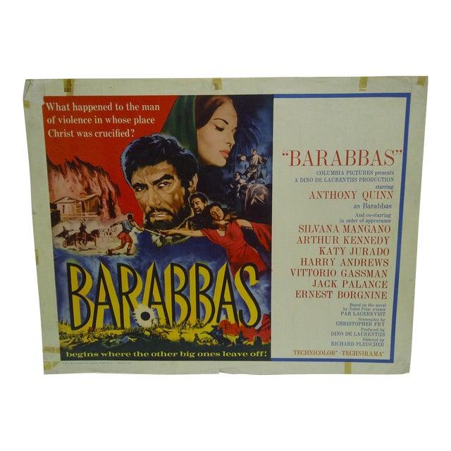"""1962 Vintage """"Barabbas"""" Movie Poster For Sale"""