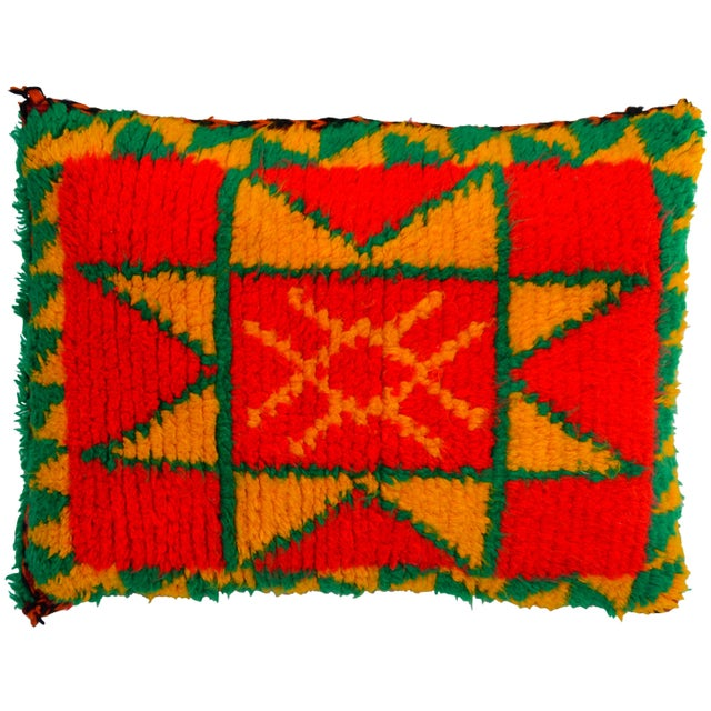Red Moroccan Berber Star Pillow For Sale - Image 8 of 8