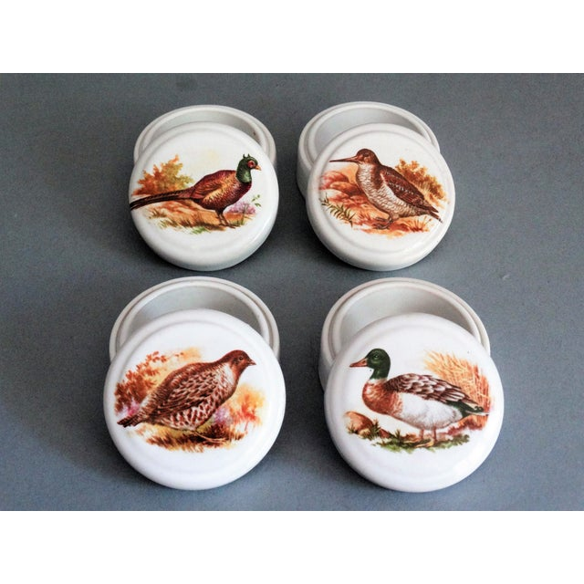 Cottage English Game Bird Trinket Box - Set of 4 For Sale - Image 3 of 4