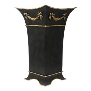 Vintage Tole Square Umbrella Stand For Sale