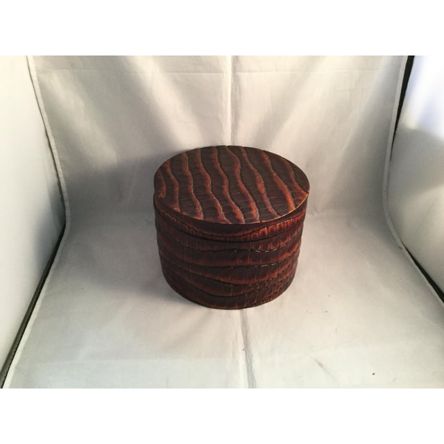 Wood Vintage Wooden Trinket Box With Lid For Sale - Image 7 of 7