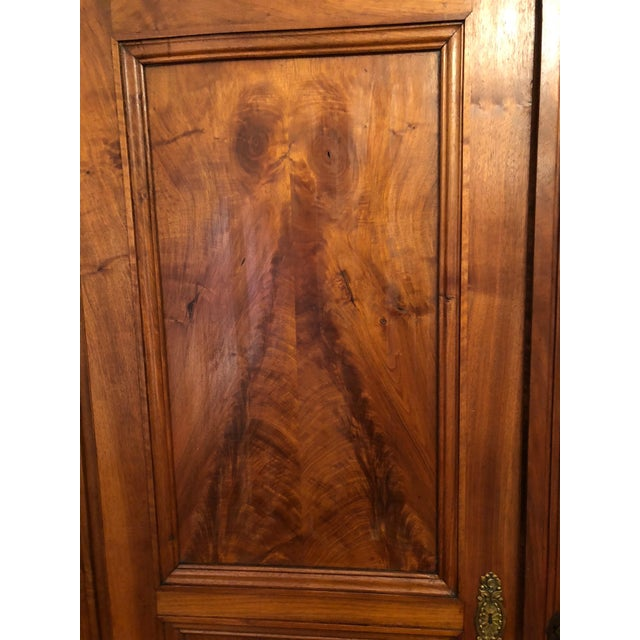 19th Century Walnut Armoire For Sale - Image 9 of 13
