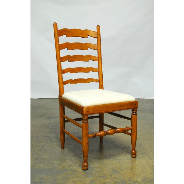English Ladder Back Dining Chairs - Set of 8 - Image 4 of 10