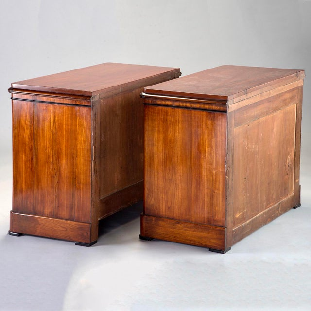 Brown English Mahogany Chests With Black Detailing - a Pair For Sale - Image 8 of 11