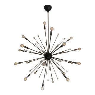 Satellite Sputnik Chandelier 24 Bulb + 25 Glass Marbles For Sale