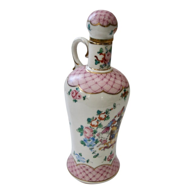 Antique Early 20th Century Porcelain Whiskey Decanter For Sale