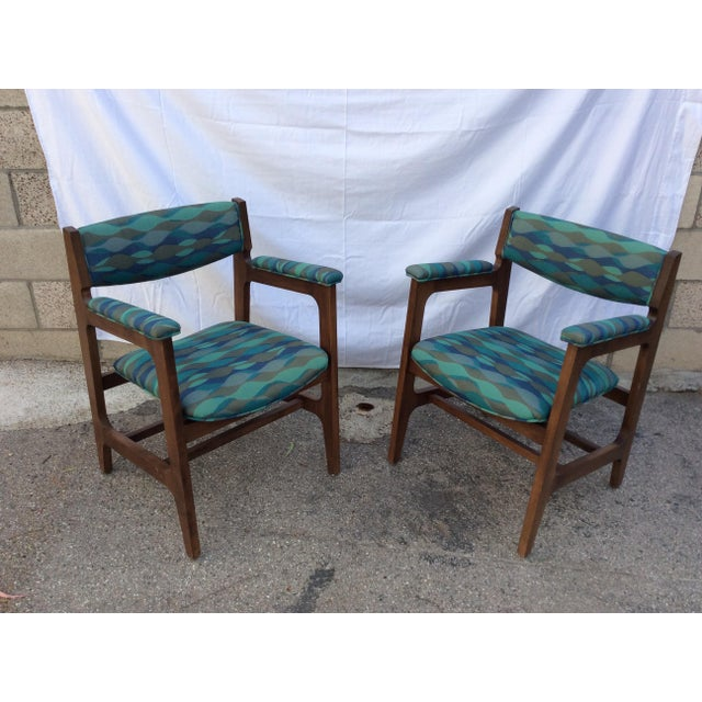 1960s Mid-Century Chairs - a Pair For Sale - Image 4 of 8