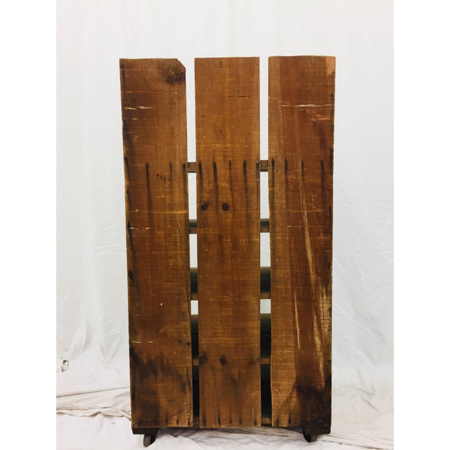 Antique Wood Factory Cart For Sale - Image 10 of 11