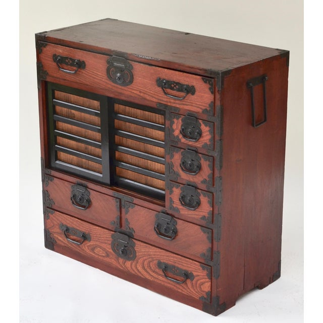 Asian Antique Japanese Hardwood Choba Tansu For Sale - Image 3 of 7