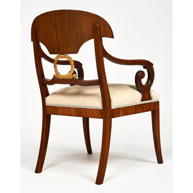 Mahogany Swedish Antique Set of Flamed Dining Chairs For Sale - Image 7 of 11