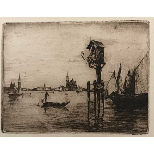 Grand Tour 20th Century Dry Point Etchings - a Pair For Sale - Image 3 of 8