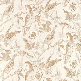 Sample - Schumacher Katmandu Wallpaper in Beige For Sale