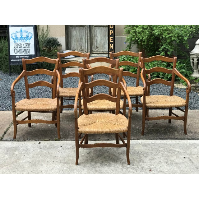 1980s Charles X Style Armchairs - Set of 6 For Sale - Image 9 of 9