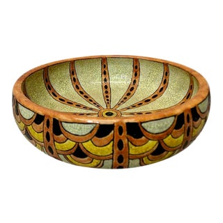1920 Vintage Charles Catteau Belgian Art Deco Bowl For Sale