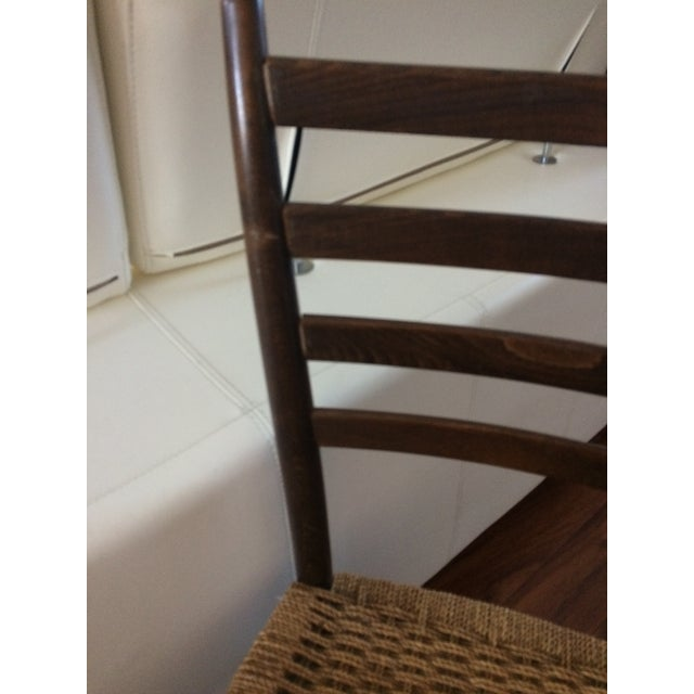 Vintage Italian Woven Seat Dining Chairs - A Pair - Image 10 of 11