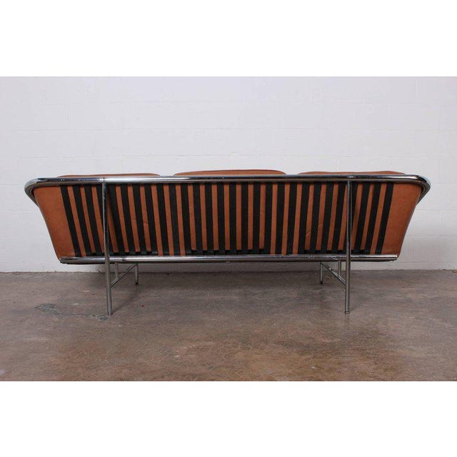 Animal Skin Pair of Sling Sofas by George Nelson For Sale - Image 7 of 10