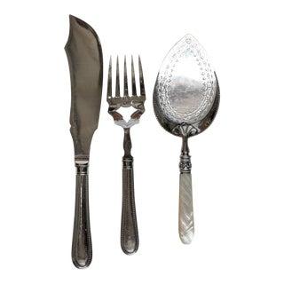 Vintage Silver Plate Serving Ware, - Set of 3 For Sale