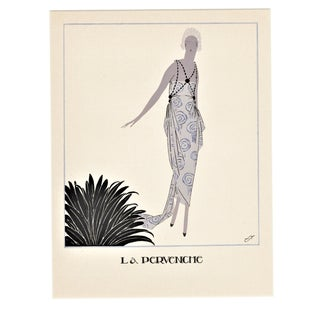 Matted Art Deco Fashion Pochoir For Sale