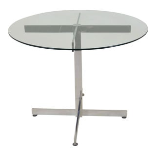 Polished Aluminum Modernist Table