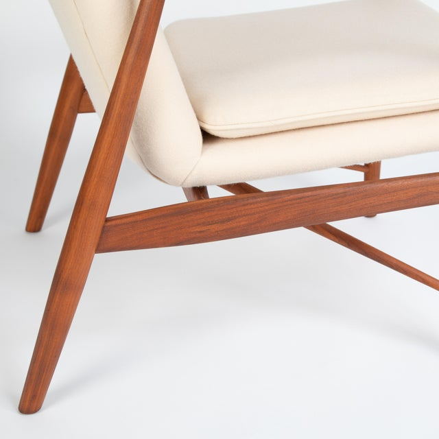 """Pair of Finn Juhl """"45"""" Chairs for Baker Furniture, Circa 1960s For Sale - Image 10 of 13"""