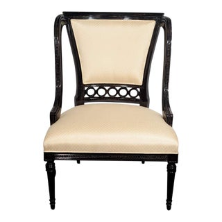 Sophisticated Mid-Century Modernist Chair in the Manner of Frances Elkins For Sale