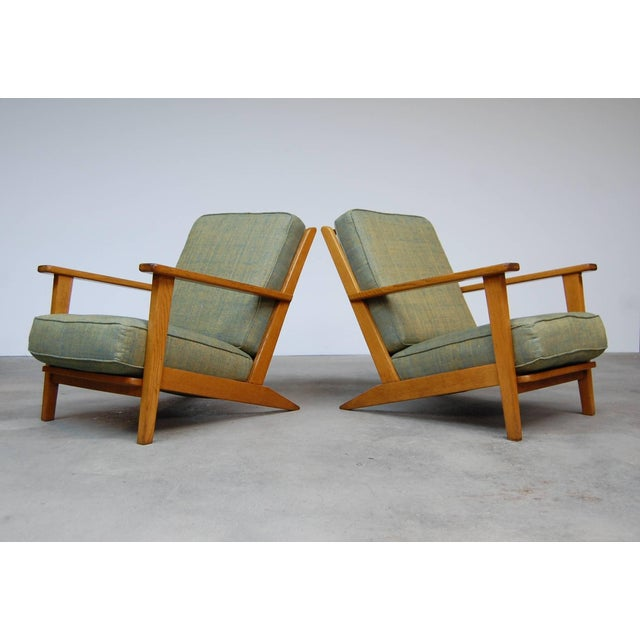 Modernist Lounge Chairs From France- a Pair For Sale - Image 9 of 9