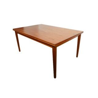 1960s Danish Modern Teak Dining Table For Sale