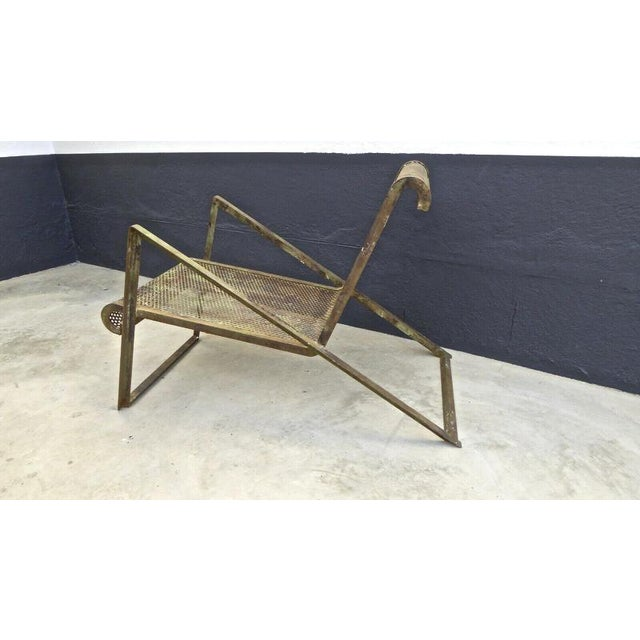 1920s Jean Royere Early Rarest Documented Perforated Iron Lounge Chair For Sale - Image 5 of 12
