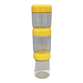Heller - Massimo Vignelli Glass Storage Jars Yellow Set of 3 For Sale