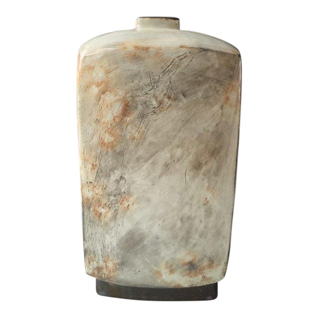Kang Hyo Lee, Buncheong Square Bottle, 2016 For Sale
